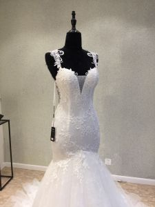Custom Made Beading Lace Mermaid Wedding Dress pictures & photos