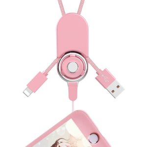 2 in 1 USB Charger Cable for iPhone Android Detachable Neck Strap Band Long Lanyard for Cell Phones pictures & photos