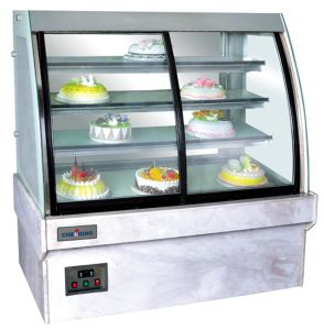 Front Opening Door Cooler Cake Refrigerated Showcase pictures & photos