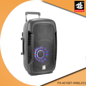 Portable Rechargeable Karaoke System Bluetooth Speaker Mic PS-4015bt-Iwb (LED) pictures & photos