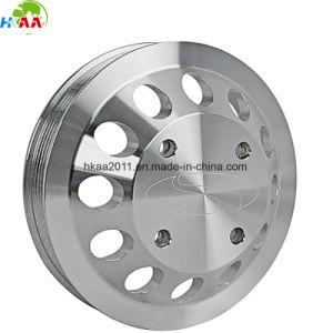 Precision Custom Machining Aluminum Flat Belt Pulley Manufacturer pictures & photos