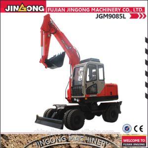 Hydraulic Jingong Wheel Excavator 7ton Jgm9085ln-8 pictures & photos