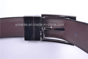 Reversible Buckle 3.3cm Wide Belt Lychee Pattern Casual PU Belt pictures & photos