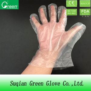 Clear Food Processing Disposable HDPE Glove pictures & photos