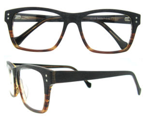 Wood Like Spectacle Frames China Custom Eyewear New Model Optical Frame Eyeglasses Without Nose Pad pictures & photos