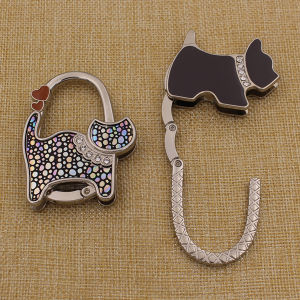 Promotion Gifts Custom Dog Shaped Purse Hook for Ladies pictures & photos
