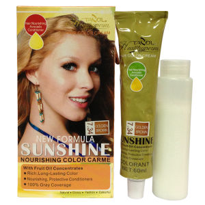 Sunshine Hair Color Cream with Mahogany pictures & photos