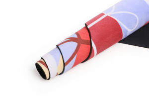 Full Color Digital Printed Microfiber Yoga Mat - Non-Slip pictures & photos