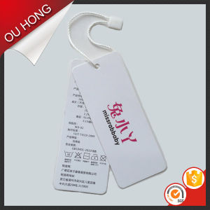 High Quality Wholesale Custom Paper Clothing Hang Tags