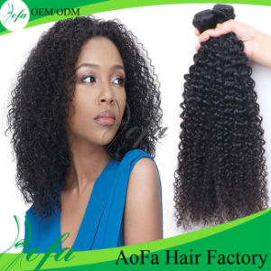 100%Unprocessed Virgin Mongolian Curly Hair Remy Human Hair Extension pictures & photos