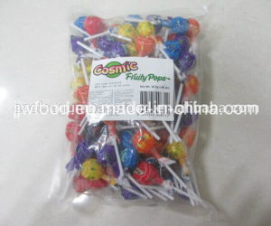 Cosmic Yummy Assorted Fruit Flavors Pop Lollypop Candy pictures & photos