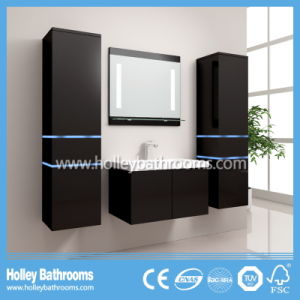 Hot LED Light Touch Switch High-Gloss Paint Bathroom Vanity Unit (B804D)