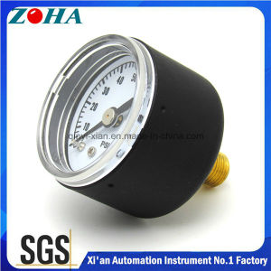 "40mm/1.5"" Miniature Back Connection Black Steel Case General Pressure Gauge pictures & photos"