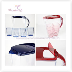 BPA Free 2L Plastic Water Jug with 4 Cups pictures & photos