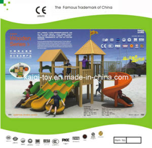 Kaiqi Small Colorful Wooden Series Outdoor Children′s Playground (KQ10152A) pictures & photos