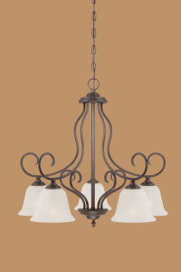 Hot Sale Chandelier with Glass Shade (1535RBZ)