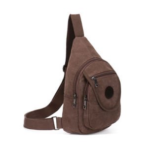 VAGULA Popular Coffee Canvas Shoulder Bags (HL6024) pictures & photos