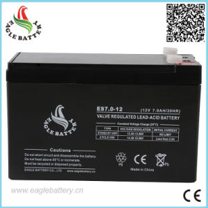 12V 7ah AGM Rechargeable Mf Lead Acid Battery