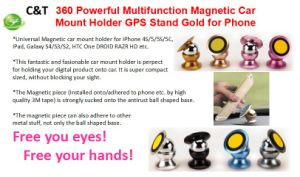 Magnetic Cell Phone Car Mount Installs on Any Flat Surface pictures & photos