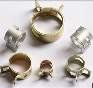 Zinc Plated Spring Hose Clamp pictures & photos