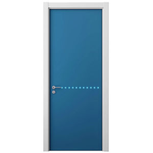 Oppein Blue Lacquer Wood Veneer Swing Door for Room (MSPD48) pictures & photos
