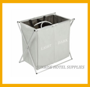 Highly Quality Metal Frame Linen Trolley with 2 Compartments pictures & photos