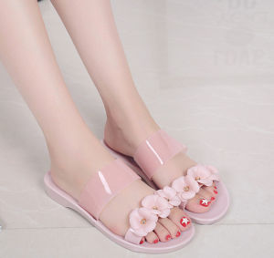 PVC Crystal /Jelly Shoes for Ladies with Exqusite Flowers pictures & photos