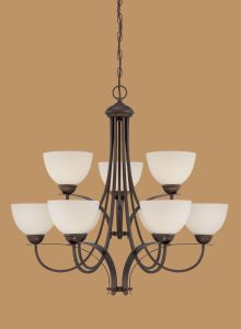 Hot Sale Chandelier with Glass Shade (1939RBZ)