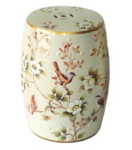 Porcelain Garden Stool Spring Birds pictures & photos