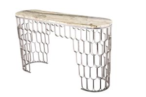 Stainless Steel Console Table with Nature Marble Top pictures & photos