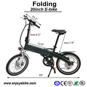 Light Weight Aluminum Foldable E-Bicycle Electric Bicycle E Bikes MTB Electric Bike (PE-TDN08Z)