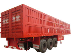 14m 3axles Van Type Semi Trailer