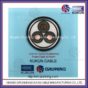 12/20kv Cu/XLPE/Swa/PVC (or PE) Power Cable