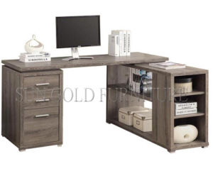 Modern L Shape Office Computer Desk with Cabinet Rack (SZ-OD462) pictures & photos
