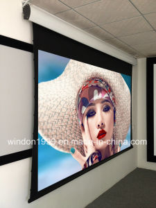 16 9 133 Inch Motorized Tab Tensioned Projector Screen pictures & photos