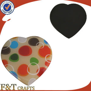 Heart Shape Printing Logo Epoxy Fridge Magnet for Wholesales pictures & photos