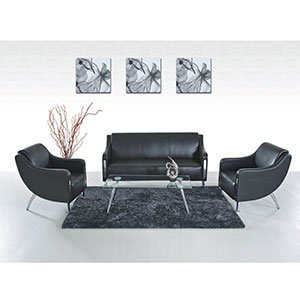 Manufacturer Black Color Excellent Modern Sectional Sofa Set (FS-639) pictures & photos