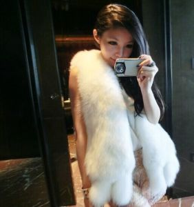 Top Quality 100% Real Fox Fur Long Vest