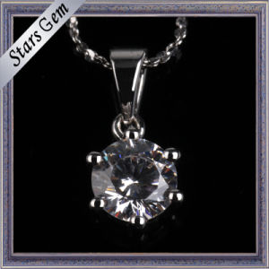 Simple and Fashion Style Synthetic Diamond Prong Setting Pendant Jewellery pictures & photos