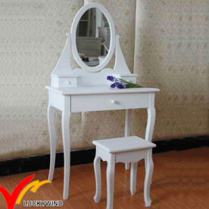 White Antique French Style Simple Wooden Vanity Dresser pictures & photos