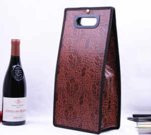 Top-Level Leather Wine Packaging Bag pictures & photos