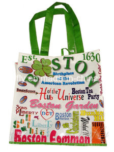 PP Woven Tote Bag with Printing for Promotion pictures & photos