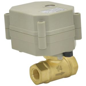 OEM 2 Way Electric Water Valve Motorized Automatic Water Shut off Brass Valve (T8-B2-C) pictures & photos