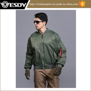 Army Green American Bomber Jacket Windproof Men′s Warm Coat pictures & photos