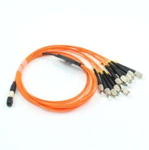 MPO-FC Fanout 12core Mini Round 3.0mm Fiber Optical Patchcord pictures & photos