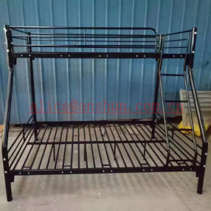 Black Metal Twin-Twin 3 Person Bed /Heavy Duty Steel Metal Triple Bunk Bed pictures & photos