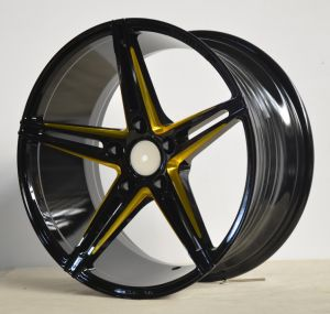 After Alloy Wheels with black machine face UFO-5048 pictures & photos