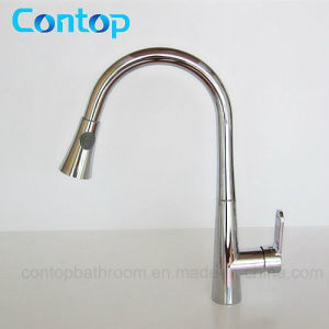 Brass Body Chrome Finished Pull-out Hose Kitchen Faucet/Sink Faucet pictures & photos