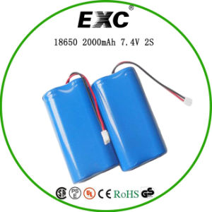 18650 2000mAh of 7.4V Lithium Ion Battery Pack pictures & photos