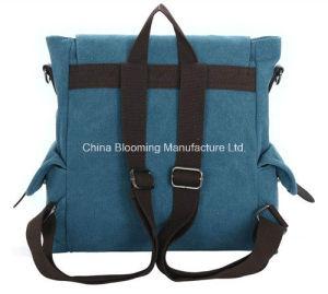 Washed Canvas Travel School Laptop Satchel Shoulder Crossbody Bag Backpack pictures & photos